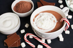 Hot Cocoa in White Mug Royalty Free Stock Photography