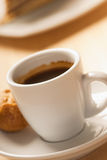 Hot coffee. Delicious hot coffee with an aperitif Stock Images