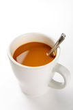 Hot coffee. Delicious hot coffee with an aperitif Stock Image