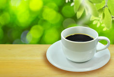 The hot coffee Stock Images
