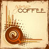 Hot Coffee. Illustration of cup of hot coffee on abstract background Stock Photography