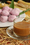 Hot coffee and baked goods, candy, Thailand. Royalty Free Stock Photography