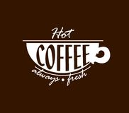 Hot coffee banner Royalty Free Stock Photos