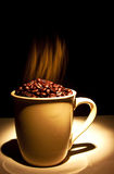 Hot coffee beans Royalty Free Stock Photos