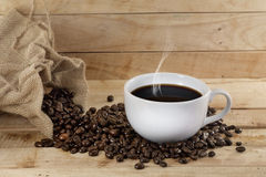 Hot coffee. Royalty Free Stock Image