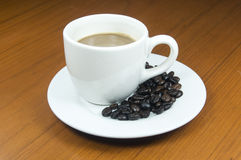 Hot coffee blend and smooth Royalty Free Stock Photography