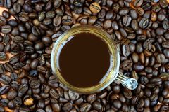 The hot coffee Royalty Free Stock Photos