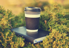Hot coffee and book Royalty Free Stock Photography