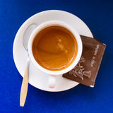 Hot coffee with brown sugar Stock Images