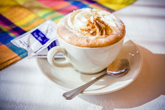 Hot coffee cappuccino Royalty Free Stock Photo