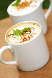 Hot coffee in ceramic cup Stock Photography