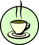 Hot coffee, chocolate or tea cup. Vector available Royalty Free Stock Photography