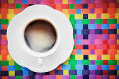 Hot coffee colorful background Royalty Free Stock Photography