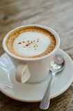 Hot coffee cup close up Stock Images