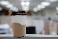 Hot coffee in cup. Royalty Free Stock Images
