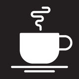 Hot coffee cup icon, Cafe vector illustration. Stock Photography