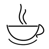 Hot coffee Cup icon outline drawing Royalty Free Stock Image