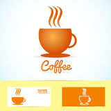 Hot coffee cup logo icon Royalty Free Stock Photo
