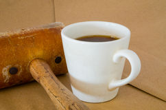 Hot Coffee Cup. Royalty Free Stock Images