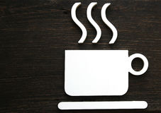 Hot coffee cup sign Stock Photography