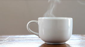 Hot coffee cup. stock footage