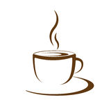 Hot coffee cup vector Royalty Free Stock Photography