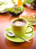 Hot coffee drink Royalty Free Stock Images