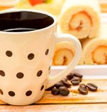 Hot Coffee Drink Indicates Espresso Decaf And Coffees. Delicious Hot Coffee Representing Coffees Cup And Espresso stock image