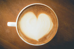Hot coffee with foam milk Stock Photography