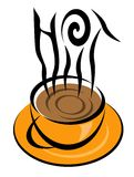 HOT coffee illustration Royalty Free Stock Photos