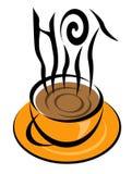 HOT coffee illustration vector illustration