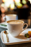 Hot coffee late Royalty Free Stock Photos