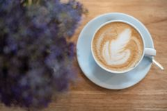 Hot Coffee Latte Art royalty free stock photography