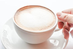 Hot coffee latte Stock Images