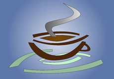 Hot Coffee logo Stock Photo