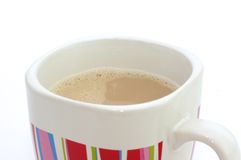 Hot coffee with milk. Royalty Free Stock Image