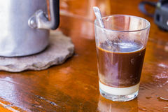 Hot coffee and milk Royalty Free Stock Photography