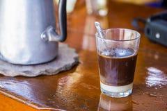 Hot coffee and milk Stock Photos