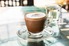 Hot coffee (mocaccino) Royalty Free Stock Photography