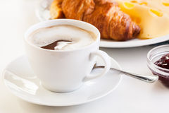 Hot coffee in the morning breakfast Royalty Free Stock Images