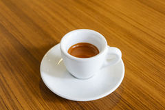 Hot coffee for morning working life on wood table Stock Photography