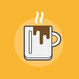 Hot coffee mug Royalty Free Stock Images