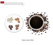 Hot Coffee, A Popular Drink in Timor-Leste Royalty Free Stock Image