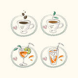 Hot coffee and refreshments Royalty Free Stock Photo