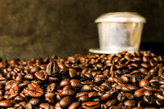 Hot coffee roasted Royalty Free Stock Images