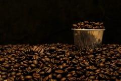 Hot coffee roasted Stock Photos