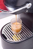 Hot coffee shot Stock Photography