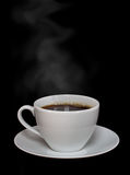 Hot coffee with steam Stock Images