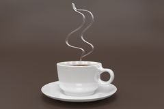 Hot Coffee Steam Stock Image