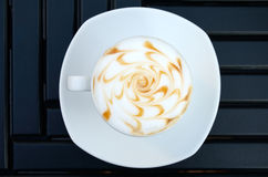 Hot coffee on table royalty free stock images